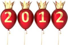 2012 balonów dekoraci nowy królewski rok Zdjęcie Royalty Free