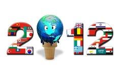 2012 bandeiras Fotografia de Stock Royalty Free