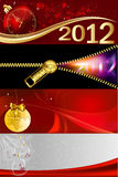 2012 banners. With Christmas and New Years themes Royalty Free Stock Photos