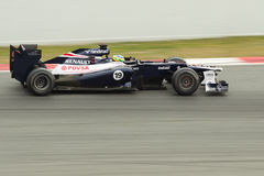 2012 Barcelona Bruno fw34 senesu test Williams Zdjęcie Stock