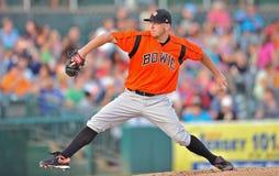 2012 baseball della Lega Minore - brocca di Bowie Baysox Fotografia Stock