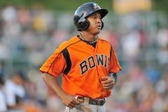 2012 basebol do campeonato menor - jarro de Bowie Baysox Imagens de Stock
