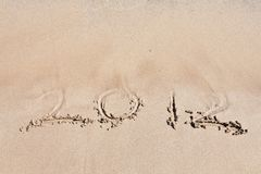 2012 on the beach. Royalty Free Stock Images