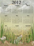 2012 beach calendar Stock Images