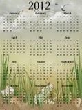 2012 beach calendar Stock Images