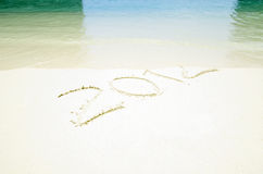 2012 on beach sand Royalty Free Stock Photos