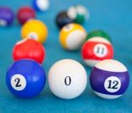 2012 bildeten von den Billiardkugeln Stockfotografie