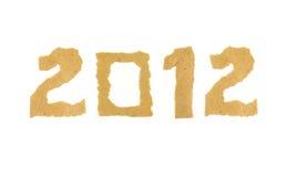 2012 bildeten von zerrissener Papierzahl Stockbild