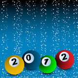 2012 Billiard ball arrangement. 2012 New years Billiard ball arrangement Royalty Free Stock Images