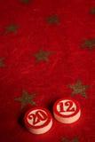 2012 - bingo numbers. And stars Stock Photos