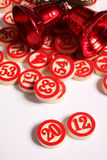 2012 - bingo numbers on white Royalty Free Stock Image