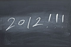 2012 on black board. It is an abstract image of 2012 Stock Images