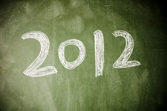 2012 on the blackboard Stock Photo