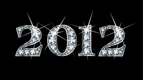 2012 bling διαμάντι Στοκ Εικόνες