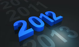 2012 in blue Royalty Free Stock Images