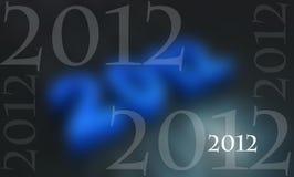 2012 blue Stock Photo