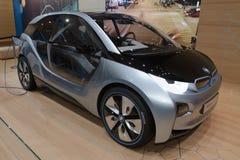 2012 bmw概念日内瓦i3汽车展示会 免版税库存图片
