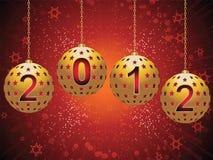 2012 Bożenarodzeniowego baubles Obraz Royalty Free
