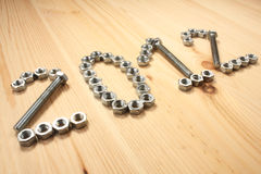 2012 of bolts and nuts Royalty Free Stock Images