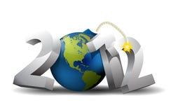 2012 bombarderar år Royaltyfri Illustrationer