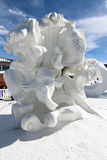 2012 Breckenridge Snow Sculpture Competition Royalty Free Stock Image