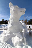 2012 Breckenridge Snow Sculpture Competition Royalty Free Stock Photography