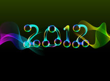 2012, bright card. 2012, bright new year card vector illustration