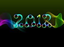 2012, bright card. 2012, bright new year card Vector Illustration