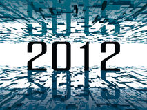 2012 bright future. Digital cold atmosphere around 2012 Royalty Free Stock Photos