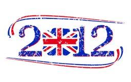 2012 British flaga royalty ilustracja