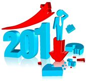 2012 broken chart. Three dimension style and High Quality Image Stock Image