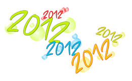 2012 with bubbles. Illustration of new year - 2012 stock illustration