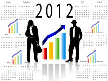 2012 business calendar. Illustration Royalty Free Stock Photography