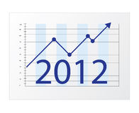 2012 business diagram. Business diagram 2012. Isolated on a white background vector illustration