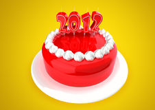 2012 Cake. 2012 made with cake candles. Image include path for remove background vector illustration