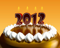 2012 Cake. 2012 made with cake candles vector illustration
