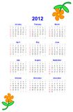 2012 Calendar Royalty Free Stock Photo