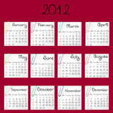 2012 calendar Royalty Free Stock Photos