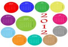 2012 Calendar Royalty Free Stock Photo
