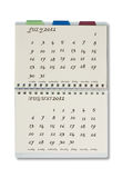 2012 calendar. The 2012 calendar on notepad with white background Royalty Free Stock Photography