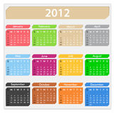 2012 Calendar. Illustration of calendar for 2012 year Royalty Free Stock Photo
