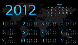 2012 calendar. With special design Vector Illustration