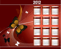 2012 Calendar. Abstract Background Illustration Royalty Free Stock Photography