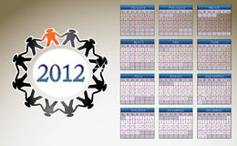 2012 calendar. Calendar for year 2012 illustration Stock Photos