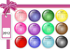 2012 calendar. Designe calendar for 2012 on white stock illustration