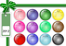 2012 calendar. Great design calendar for 2012 Vector Illustration