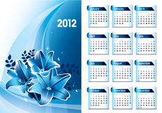 2012 Calendar. Abstract Background Illustration royalty free illustration