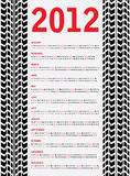 2012 calendar. With special black tire design royalty free illustration