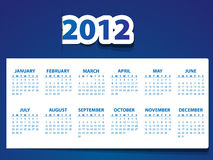 2012 calendar. With abstract background Vector Illustration