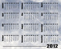 2012 Calendar. Blue blur backdround design 2012 calendar vector illustration